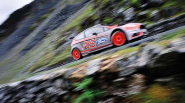 Ford Fiesta R5 rally car