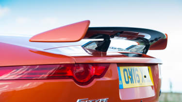 Jaguar F-Type SVR Convertible - rear spoiler