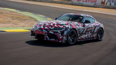 Toyota Supra proto drive - turning