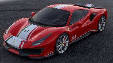 Ferrari 488 Pista Piloti Ferrari – front quarter
