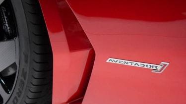 Lamborghini Aventador J vent badge