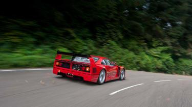 Ferrari F40 LM - chobham testing