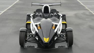 Ariel Atom 3.5R front on, with spoilers