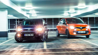 Renault Twingo GT vs Volkswagen Up GTI front