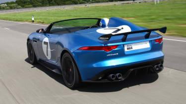 Jaguar F-type Project 7 speedster rear