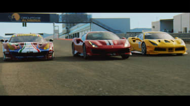 Ferrari 488 Pista and Challenge cars