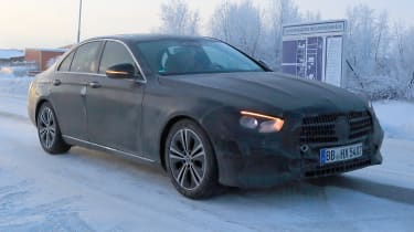 Updated 2019 Mercedes E-class spied – front