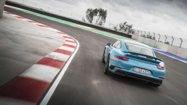 991.2 Porsche 911 Turbo S - rear driving shot 3