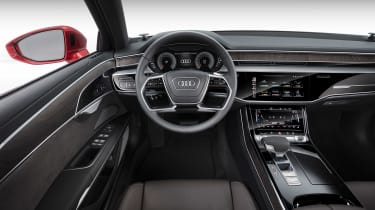 All-new Audi A8 red - interior black