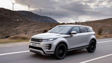 2019 Range Rover Evoque silver - front