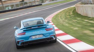 991.2 Porsche 911 Turbo S - rear driving