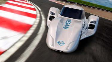 Nissan ZEOD RC electric Le Mans racer corner front