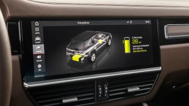 Porsche Cayenne E-Hybrid – centre console display