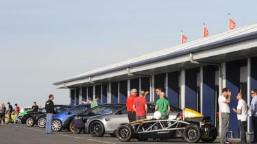 evo dunlop track competition Bedford pitlane