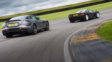 McLaren F1 vs Mercedes SLR McLaren - rear header