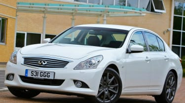 Infiniti G37x static with building