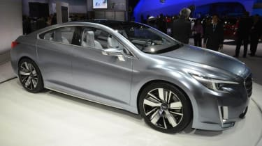 Subaru Legacy Concept silver side profile
