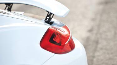 Porsche Cayman S 2013 rear light and spoiler