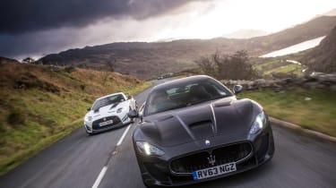 Jaguar/Maserati twin test - driving front