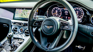 Bentley Continental GT review – green steering wheel