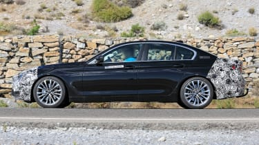 BMW 5-series facelift - side