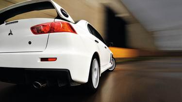 Mitsubishi Lancer Evolution X rear