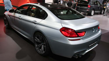 BMW M6 Gran Coupe at the Detroit show rear view