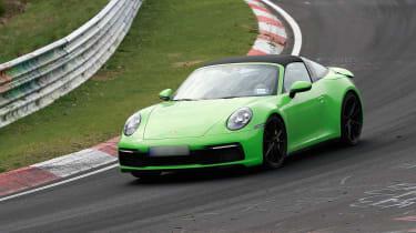 Porsche 911 Targa spy - quarter