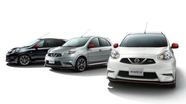 Nissan March Nismo silver black white