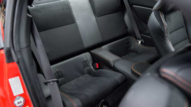 Toyota GT86 Orange Edition rear seats