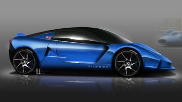 Bluebird DC50 sports car and electric racer announced