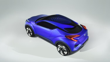 Toyota C-HR concept at the 2014 Paris motor show