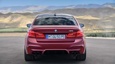 BMW M5 F90 - Plum matte rear static