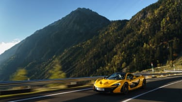 McLaren P1 yellow - front quarter