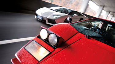 Lamborghini Aventador and Countach