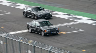 Mercedes-Benz 190E 3.2 AMG and Mercedes-AMG GT R