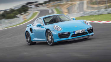 991.2 Porsche 911 Turbo S - front driving 2