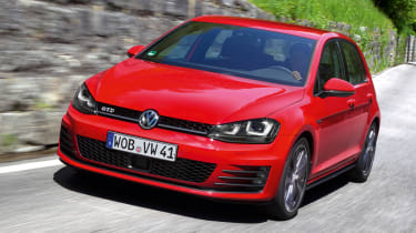 2013 Volkswagen Golf GTD red front
