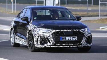 Audi RS3 mule 2021 saloon - front