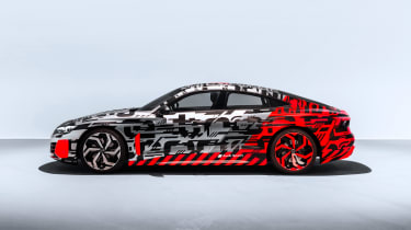 Audi E-tron GT concept teaser - profile