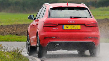 Audi RS Q3 rear cornering