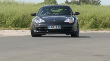 Porsche 996 GT3 on track