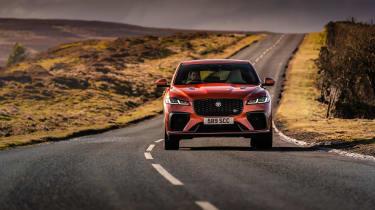 Jaguar F Pace SVR 2021 review - nose rose