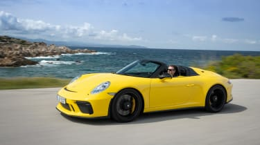 991.2 Porsche 911 Speedster - front quarter