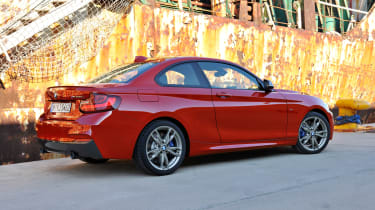 BMW 2-series coupe red rear