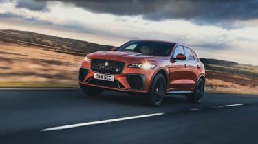 Jaguar F Pace SVR 2021 review - tracking 3