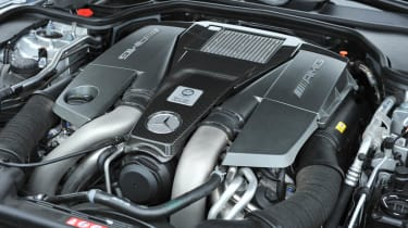 2013 Mercedes SL63 AMG 5.5-litre biturbo V8 engine