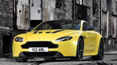 Aston Martin V12 Vantage S yellow front