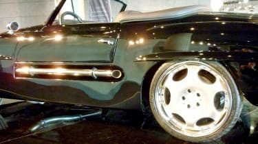400bhp Mercedes 190SL CMH side exhaust