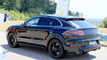 Porsche Cayenne Coupe spy - rear quarter